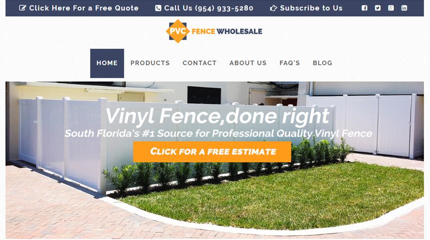 Pvc fence wholesale fenceweb